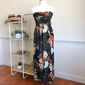 Band of Gypsies strapless floral maxi dress